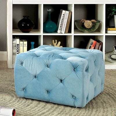 Ruggles Ottoman Upholstery: Blue