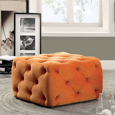 Ruggles Ottoman Upholstery: Orange