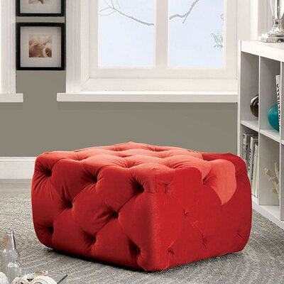 Ruggles Ottoman Upholstery: Red
