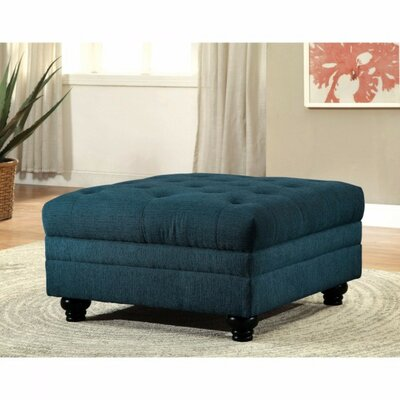 Felipe Cocktail Ottoman Upholstery: Teal Blue