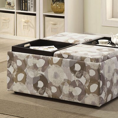 Risinger Transitional Storage Ottoman Upholstery: Gray