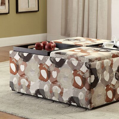 Risinger Transitional Storage Ottoman Upholstery: Beige