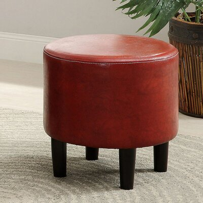 Capobianco Ottoman Upholstery: Cherry Red