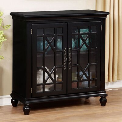 Carner Transitional Storage China Cabinet Color: Black