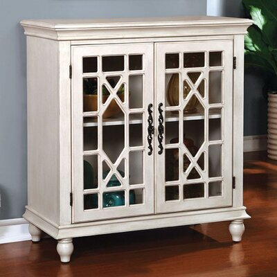 Carner Transitional Storage China Cabinet Color: White