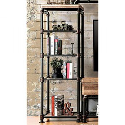Worden Industrial Style Pier China Cabinet