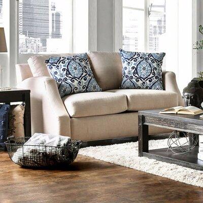 Latisa Comfy Loveseat Upholstery: Beige