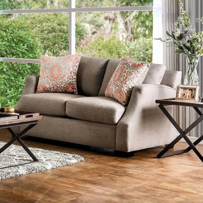 Latisa Comfy Loveseat Upholstery: Light Gray