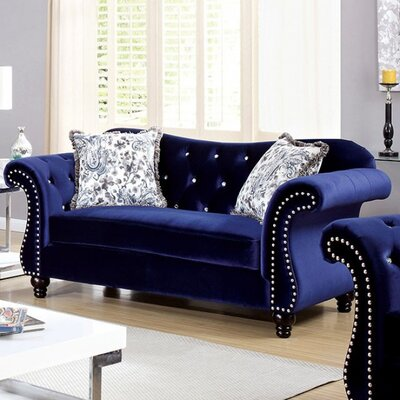 Brooks Loveseat Upholstery: Blue