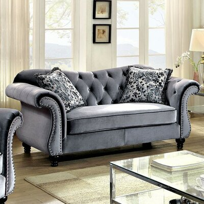 Brooks Loveseat Upholstery: Gray