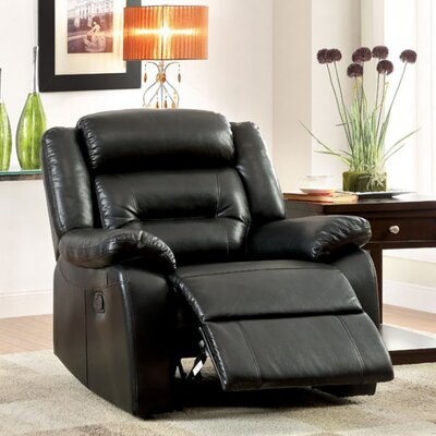 Rittenhouse Leather Manual Rocker Recliner
