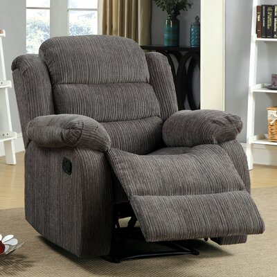 Damond Traditional Recliner Upholstery: Gray