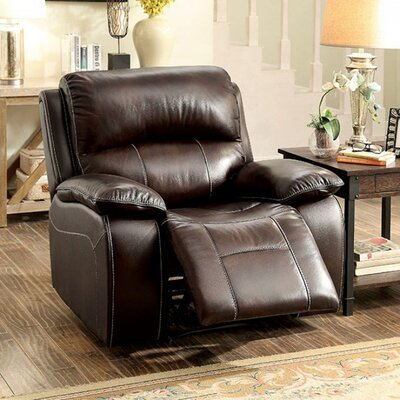 Pallab Leather Manual Rocker Recliner
