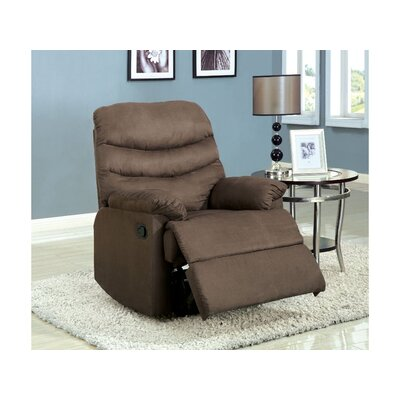 Rodden Manual Rocker Recliner Upholstery: Light Brown