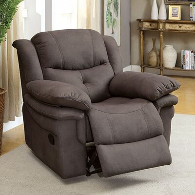 Roden Manual Recliner Upholstery: Ash Brown