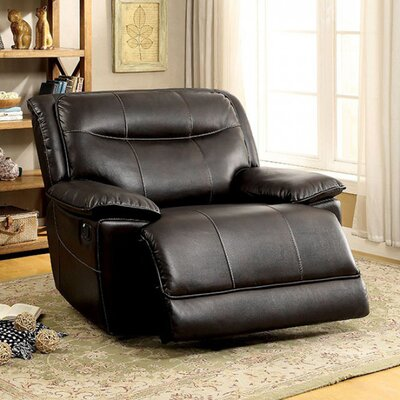 Roder Glider Recliner Upholstery: Brown