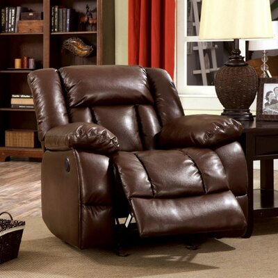 Demetris Transitional Leather Recliner