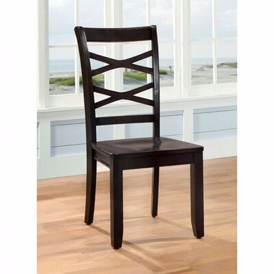 Channa Transitional Dining Chair Color: Espresso