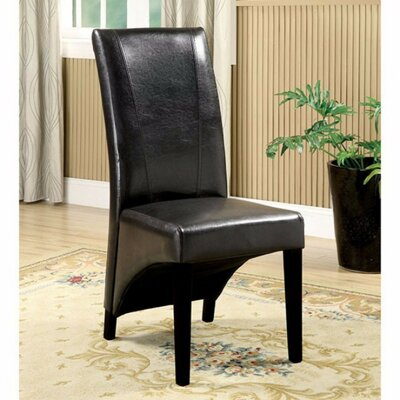 Rodrigues Upholstered Dining Chair Upholstery Color: Black