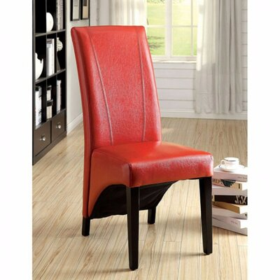 Rodrigues Upholstered Dining Chair Upholstery Color: Red