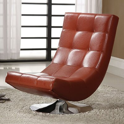 Miles Swivel Chesterfield Chair Upholstery: Mahogany Red
