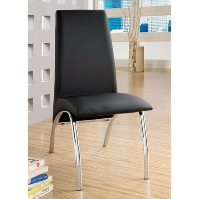 Mill Contemporary Dining Chair Upholstery Color: Black