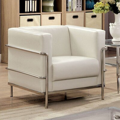 Millers Barrel Chair Upholstery: White