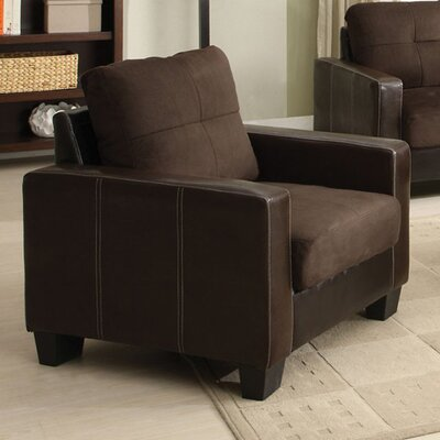 Roeder Contemporary Armchair Upholstery: Chocolate/Espresso