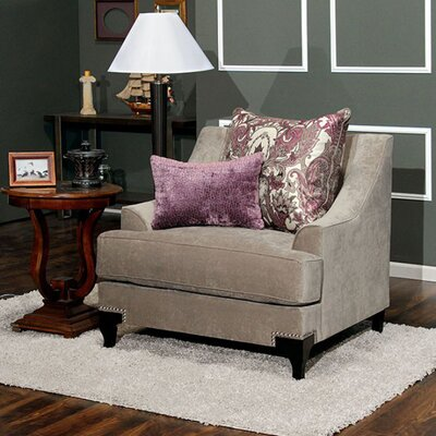 Arely Traditional Armchair Upholstery: Taupe