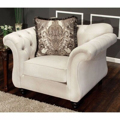 Antoinette Chesterfield Chair Upholstery: White