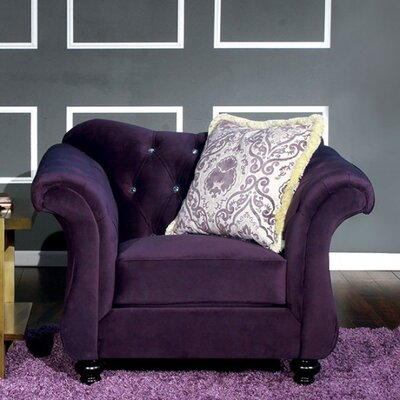 Antoinette Chesterfield Chair Upholstery: Purple
