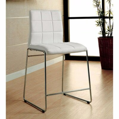 Roesler Contemporary Leather Upholstered Dining Chair Upholstery Color: White