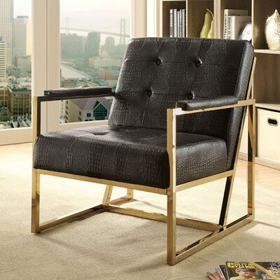 Sienna Contemporary Armchair Upholstery: Black