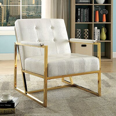 Sienna Armchair Upholstery: White