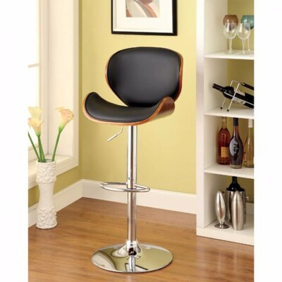Milliner Contemporary Adjustable Height Swivel Bar Stool