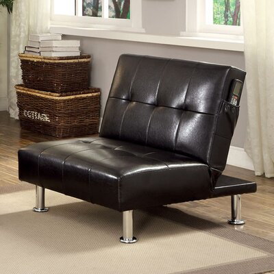 Capetillo Contemporary Convertible Chair Upholstery: Black