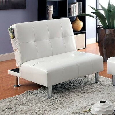 Capetillo Contemporary Convertible Chair Upholstery: White