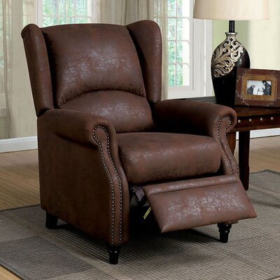 Benat Transitional Push Wingback Chair
