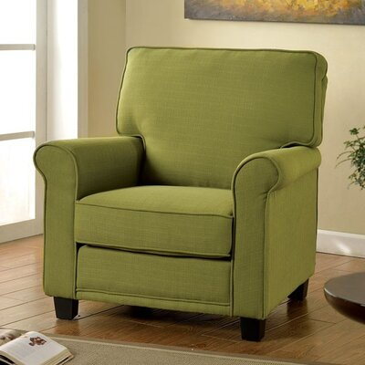 Russell Arm Chair Upholstery: Green