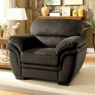 Roca Club Chair Upholstery: Dark Brown