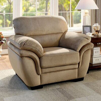 Roca Club Chair Upholstery: Light Brown