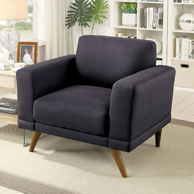 Coraline Mid-Century Modern Armchair Seat Color: Black
