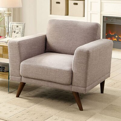 Coraline Mid-Century Modern Armchair Seat Color: Gray