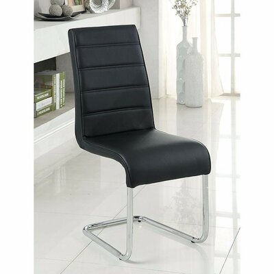 Ballyrashane Dining Chair Upholstery: Black
