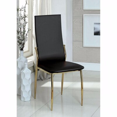 Gwen Solid Wood Dining Chair Color: Black