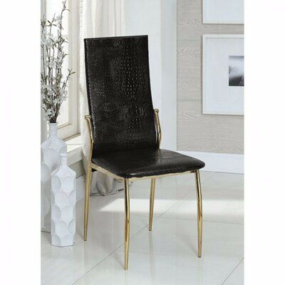 Gwen Chic Dining Chair Color: Black