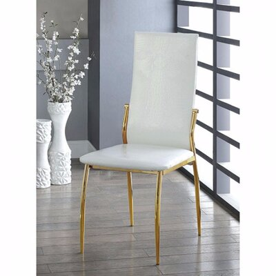Gwen Chic Dining Chair Color: White