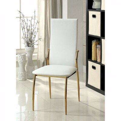 Gwen Solid Wood Dining Chair Color: White