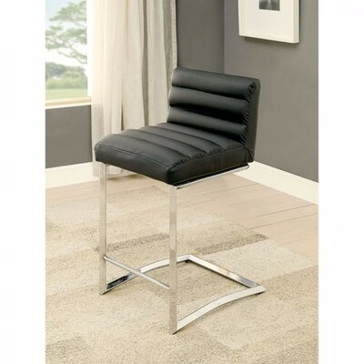 Ballinderry Bar Stool Upholstery: Black