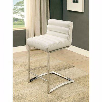 Ballinderry Bar Stool Upholstery: White